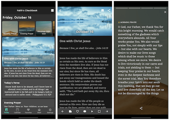 Daily Devotional App on iPhone 11